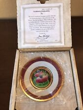 The Hamilton Collection Flowers Festivsl Of Japan-Iris Japanesse Cloisonne Plate