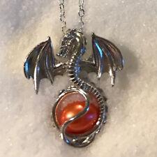 Gothic Frau Männer Pterosaurus Drachen Perle Käfig Medaillon Anhänger Halsketten