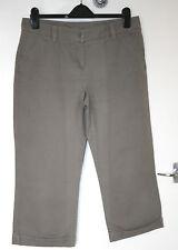 Marks & Spencer UK12 EU40 Flint Cropped Umschlag Hose 100% Baumwolle