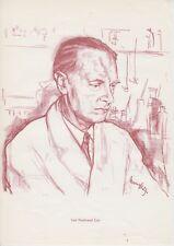 Carl und Gerty Cori Porträt Medizin Nobelpreis 2 Drucke Prints aus 60er
