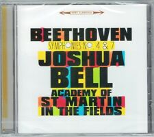 Joshua Bell: Beethoven Symphony No. 4 7 Academy of St Martin in the Fields CD NUOVO