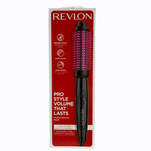 """Revlon ProCollection Silicone 1"""" Heated Brush Black and Pink 430F High Heat"""