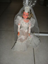 vintage Petra Doll Plasty Puppe Princess Wedding Bride Braut