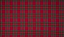 SCOTTISH CHECK Tartan Fabric Material - BIG ROYAL STEWART