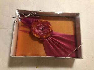 "Lillian Rose 8.5"" Pink/Orange Guest Book"