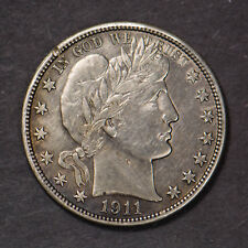 1911 BARBER 50c SILVER HALF DOLLAR (Lot #244)