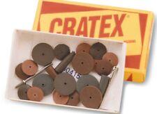 "Box 100 Cratex Bullet Points #8-F Abrasive Polishing Rubber Cones 9//32/""x1/""x1//16/"""