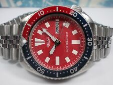 SEIKO 150M DAY/DATE DIVERS AUTO MENS WATCH 6309-7290, RED/PEPSI (SN 590393)