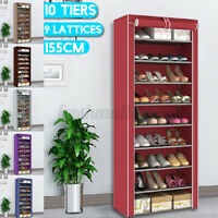 10 Tiers 9 Lattices Shoe Rack Shelf Storage Closet Organizer Cabinet With  ~