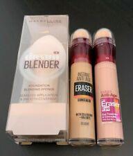 Maybelline beauty set Blender+eraser concealer shade 01 + eraser eye brightener