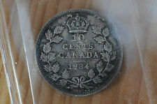 1934 Canada Ten Cents - ICCS MS-64