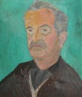 Antique oil painting portrait signed
