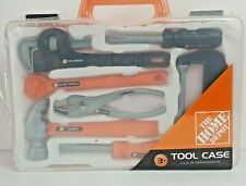 The Home Depot child tool case w/tools socket, pipe wrench hammer pliers, 2010