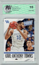 Karl-Anthony Towns 2015 National VIP White Rookie Card #36 PGI 10 Wolves