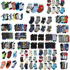 Lot 12 Pairs Infant Boy Children Toddler Kid Socks Cotton Spandex Ankle Crew 2-3