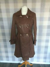 MARKS & SPENCER AUTOGRAPH Tan REAL LEATHER Long Coat Jacket Butter Soft Size 14