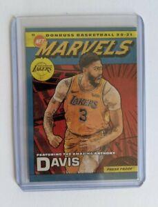 2020-21 NBA DONRUSS ANTHONY DAVIS MARVELS GOLD PRESS PROOF INSERT #20 LAKERS