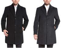 NWT Men's Kirkland Signature Wool Cashmere Blend Overcoat Dress Coat