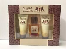 English Leather by Dana for Men - 3 PC Gift Set 2oz After Shave Balm & More