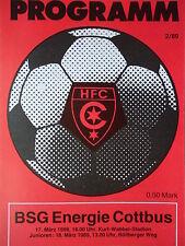 Programm 1988/89 HFC Chemie - Energie Cottbus