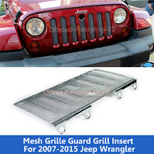 Fits 2007-15 Jeep Wrangler JK Mesh Grille Insert Cover Kit with Lock Hole Armor