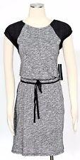 Tommy Hilfiger Grey Dress Size M Cotton Color Block Tie-waist Women's New*