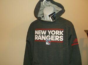 New York Rangers Adidas Climalite Hoodie Sweatshirt Men's Medium nwt Free Ship