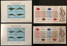 Monaco #1898,2026 2 Sheets Each 1994-97 MNH