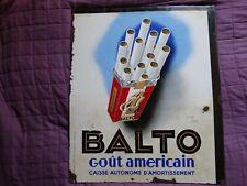 Plaque Emaillé Vintage Double Face Strasbourg BALTO, CELTIQUES Leon Dupin Sepo