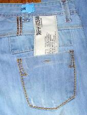 TAKESHY KUROSAWA Straight Leg Men's Blue Destroyed Jeans Sz 34x30 Italy