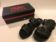 Buffalo Women's black leather Sandals UK size 7.5 8 NEW and boxed **Reduced**