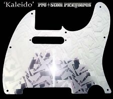 TELE METAL ETCHED MIRROR STEEL Chrome Pickguard Fender Telecaster Scratchplate