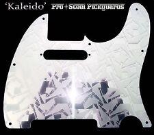 TELE METAL ETCHED MIRROR STEEL Chrome Pickguard Fender Telecaster Scratchplate