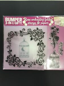 Rose Embossing Folder, Stamps & Papers
