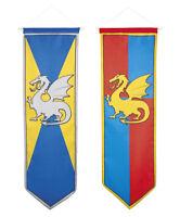 Chevaliers et dragons décoration suspendre bannière anniversaire médiévale fête