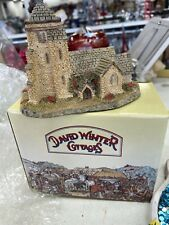 David Winter Cottages St. George's Church by David Winter 1985 With Box & Coa
