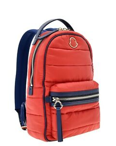 Moncler Backpack New Georgette Red Quilted Nylon New