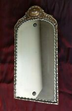 "Antique Scalloped Edge Carved Framed Mirror Wall Hanging Vintage Decor 19""x 9�"