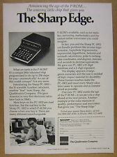 1975 Sharp PC-1002 Scientific Calculator photo vintage print Ad