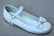 Blanco Vestido Para Fiesta Formal Zapatos De Comunión Boda Dama De Honor Flores Niña Miko 806