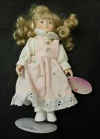 RUSS BERRIE JUNE PORCELAIN DOLL OF THE MONTH AND STAND!   e1473UXX