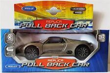 2014 PORSCHE 918 SPYDER Roadster - Welly Diecast Replica Pull Back Car 1:36