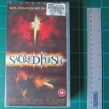 VHS UK PAL Tape - Sacred Flesh (Salvation, Horror) - Condition Pristine