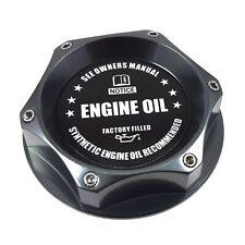 New Gunmetal Engine Oil Filler Cap Billet JDM Emblem For Honda & Acura