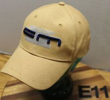 CONSTRUCTION MACHINERY INDUSTRIAL HAT DARK YELLOW STRAPBACK ADJUSTABLE EUC E11