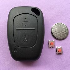 Vauxhall Opel Vivaro Movano Trafic 2 Button Remote Key Fob Case Repair Kit