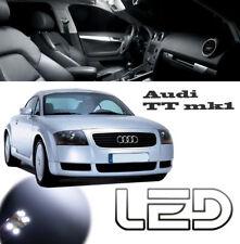 AUDI TT MK1 98-2006 Kit 8 Ampoules LED Blanc plafonnier Miroirs Coffre boîte