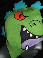 New The Rugrats Reptar T-Rex Nickelodeon Cartoon Character Laplander Beanie Hat