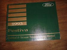 1993 Ford Festiva Electrical Vacuum Troubleshooting Manual MWI