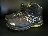 The North Face Ultra Fastpack Mid GTX Mens Size 8.5 Black And Yellow Hiking...